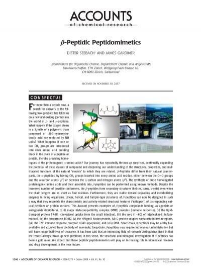 β-Peptidic Peptidomimetics - ETH Zürich