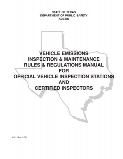 case study the vehicle inspection and emissions The legislative program review and investigations committee sought a scientific study of the efficacy of the connecticut motor vehicle emissions testing program the connecticut academy of science and engineering conducted a similar review in 1986, titled automobile emissions testing.