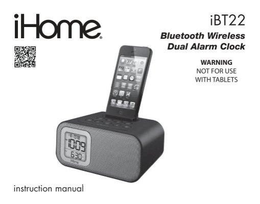 Ibt22 User Manual Ihome