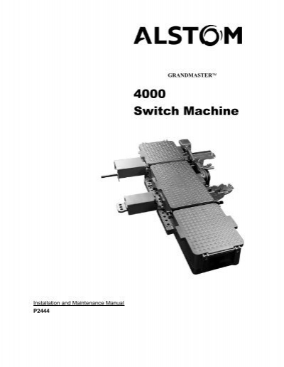 4000 Switch Machine - Alstom | Relay And Switch Machine Control Wiring Diagram For Trackside Lights |  | Yumpu