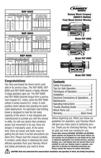 Ramsey Rep 8000 Winch Wiring Diagram Design. Ramsey Rph 8000 ... on