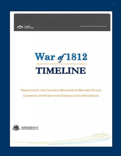 War Of 1812 Timeline Historicplaces