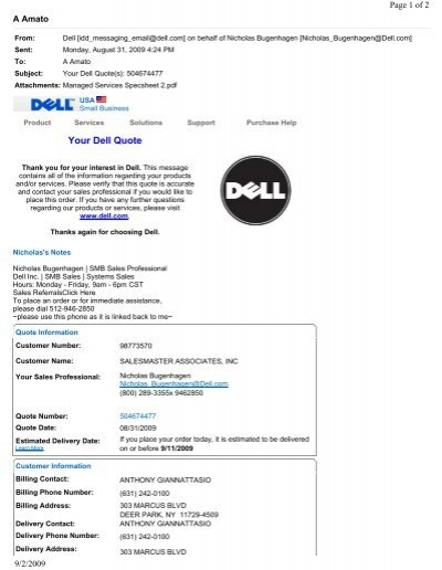 Your Dell Quote Spiceworks Community Best Dell Quote To Order