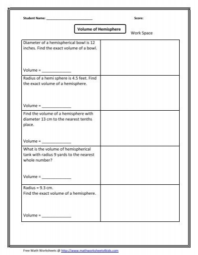 Surface area of square pyramid - Math Worksheets For Kids