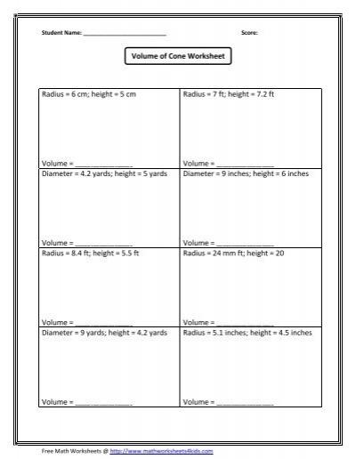 math worksheet : volume of hemisphere 1  math worksheets for kids : Math Worksheets Volume