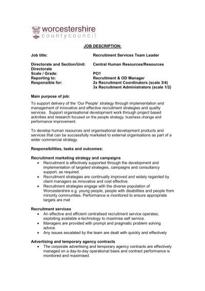 Safer Neighbourhood Team Leader Job Description March 2012 - Isos