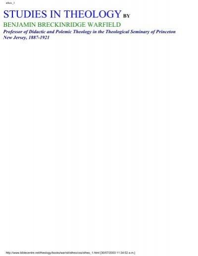 Studies In Theology Pdf David Cox
