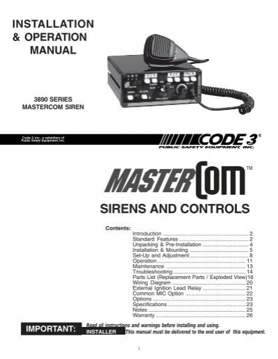 51276088 compact siren installation guide code 3 public safety equipment code 3 vcon siren wiring diagram at gsmportal.co