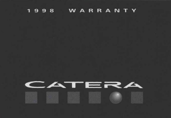 1998 Cadillac Catera Owners Manual