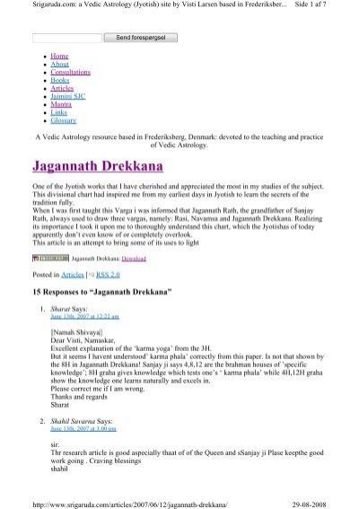 jagannath-drekkana-q&a pdf - Visti Larsen