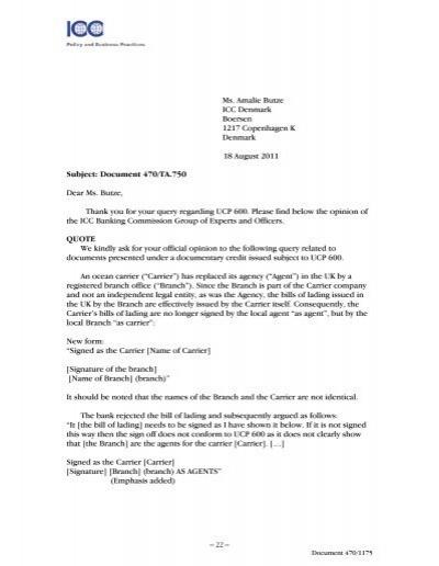 Document 470/TA.745 Dear Ms. Rantzau