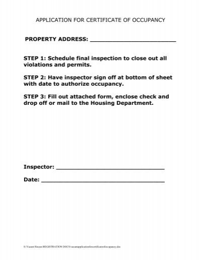 certificate of occupancy form - Timiz.conceptzmusic.co