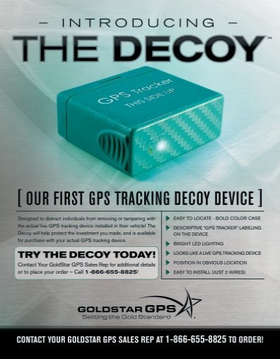Vehicle Tracking Device >> [ our first GPs trackinG decoy device ] - GoldStar GPS