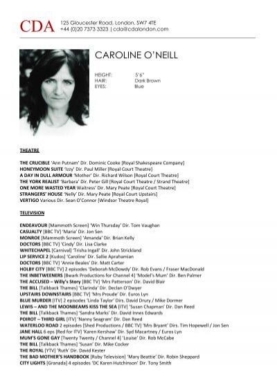 CAROLINE O\'NEILL - CDA London