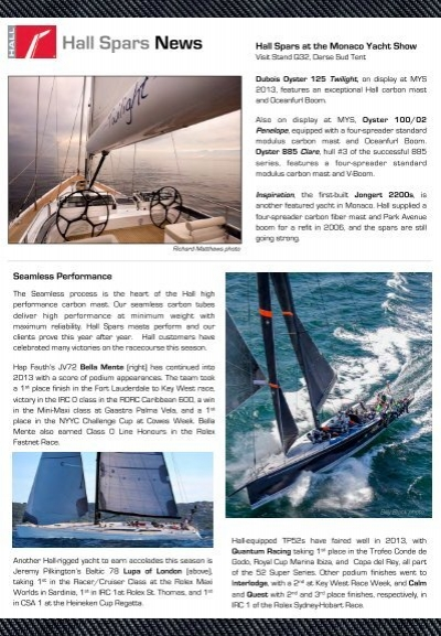 Newsletter - Monaco 2013 - Hall Spars and Rigging