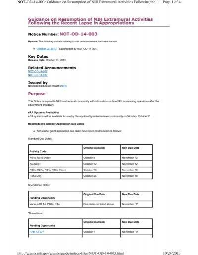 Guidance on Resumption of NIH Extramural Activities