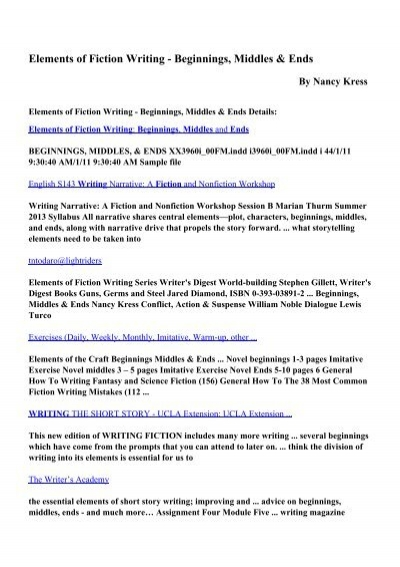 Download Elements of Fiction Writing - Beginnings, Middles