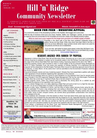 Newsletter issue 25 red hill district lions club publicscrutiny Gallery