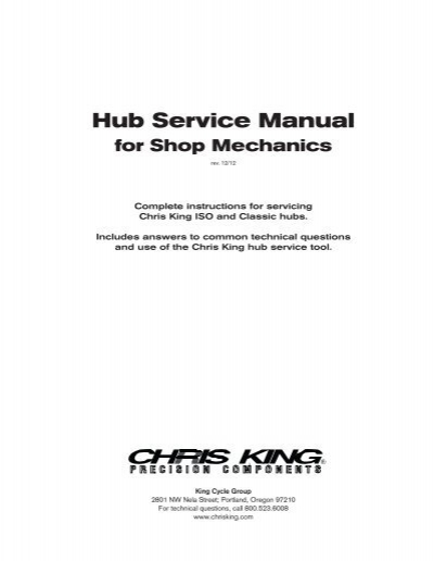 Chris manual array hub service manual chris king precision components rh yumpu fandeluxe Image collections