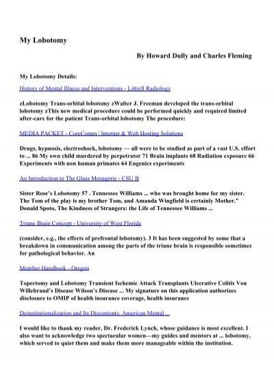 my lobotomy a memoir pdf