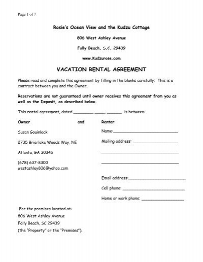 CLUBHOUSE RENTAL AGREEMENT Woodrun – Short Term Rental Contract Form