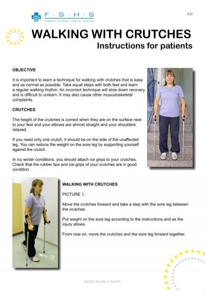 Walking With Crutches Instructions For Patients Yths