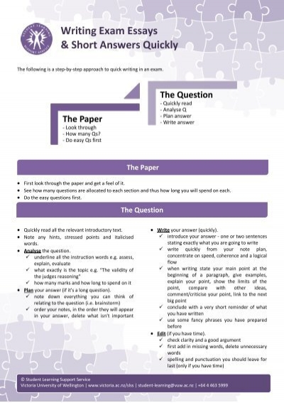writing short essay exams Follow these steps when writing an essay  test prep college advice student life volunteer time management essay tips: 7 tips on writing an effective essay.