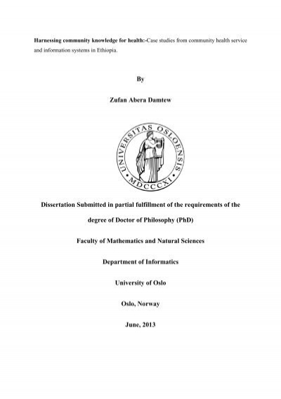 Thesis submitted in partial fulfillment of the requirements