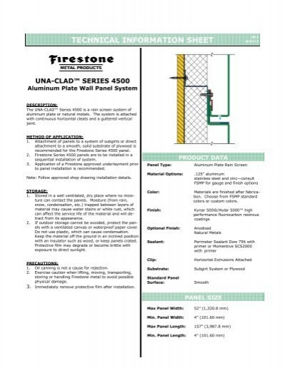 Series 4500 Aluminum Plate Rainscreen Firestone Metal Products