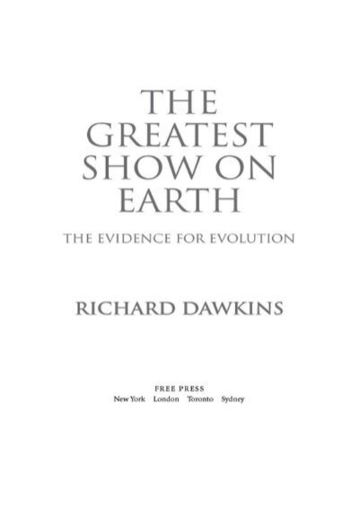 the greatest show on earth dawkins pdf free download