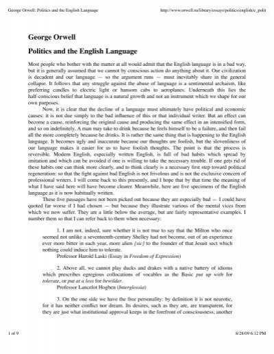 Politics And The English Language Free Download Streaming Schumann Armes  Waisenkind Analysis Essay