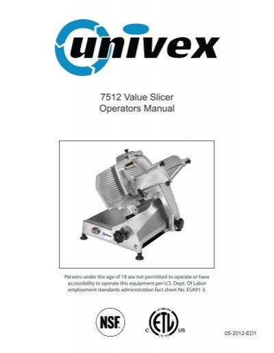 Univex user manual fat analyzer fa73 fa73 pd61553 array 7512 value slicer operators manual univex corporation rh yumpu fandeluxe Image collections