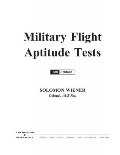 Military Flight Aptitude Tests - USAREC - U S  Army