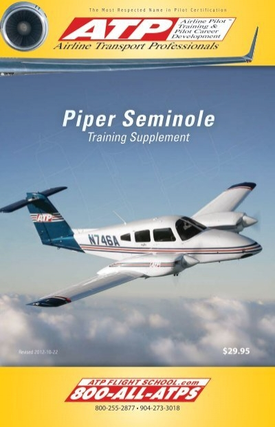 ATP Piper Seminole Training Supplement - ATP Flight School