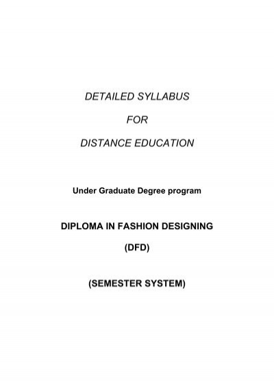 Diploma In Fashion Design Skymount Distance Education