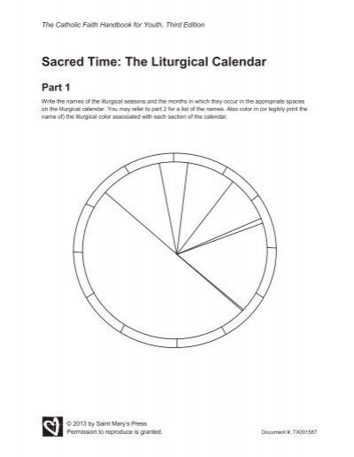 Blank Liturgical Calendar : Sacred time the liturgical calendar saint mary s press