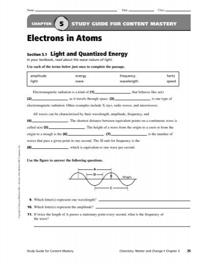 Chapter 5 Worksheets - PDF