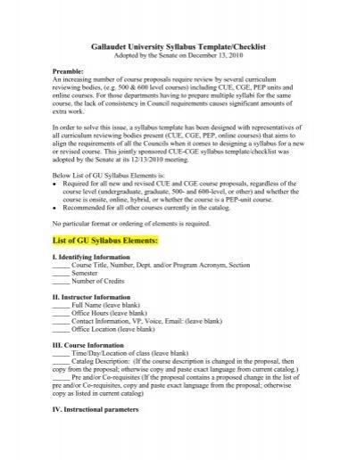 online syllabus template