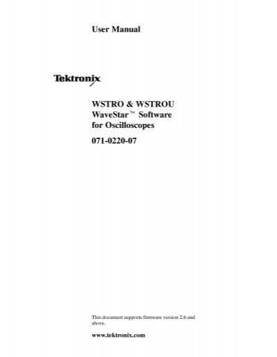 Wavestar for oscilloscopes free download.