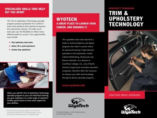 Trim Upholstery Technology Wyotech Tour