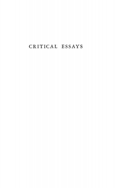 Essay on society and literature