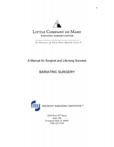 Laparoscopic gastric band patient manual guide peachtree.