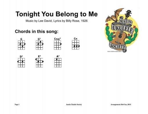 Tonight You Belong To Me (in G) - Austin Ukulele Society (AUS)