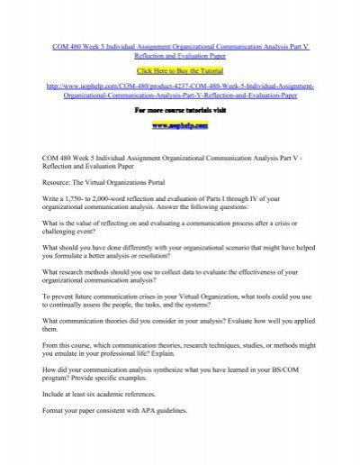 communication analysis paper