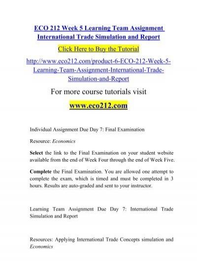 international trade simulation and report International trade simulation 07/22/2012 xeco/212 to: the president of rodamia international trade simulation report this simulation.