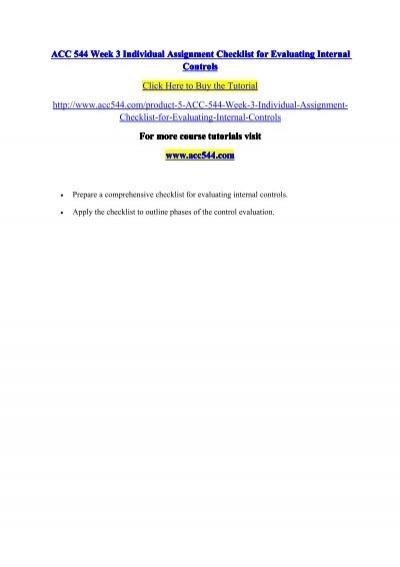 internal control evaluation checklist
