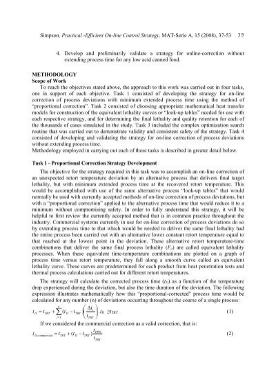 determination of thermal processes for canned foods pdf