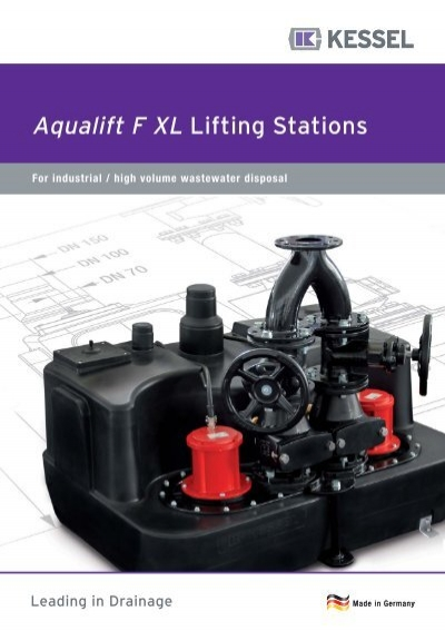 aqualift f xl lifting stations kessel. Black Bedroom Furniture Sets. Home Design Ideas
