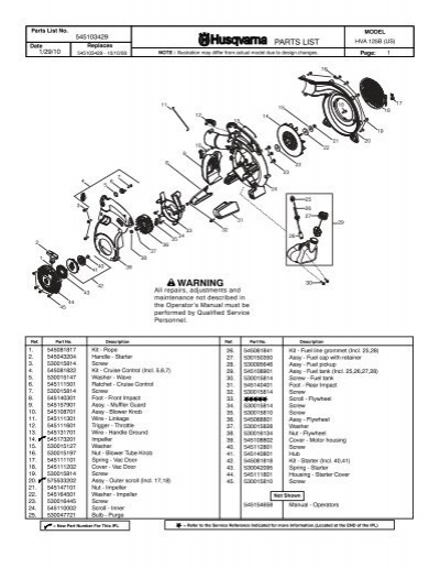 husqvarna 125b blower 01 2010 small engine parts rh yumpu com husqvarna 125b service manual pdf husqvarna 125b owners manual