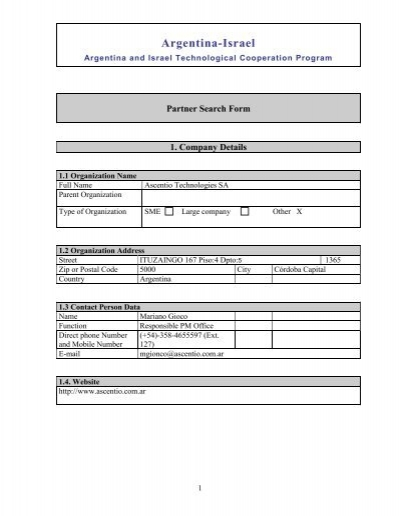 formularios - SICyT
